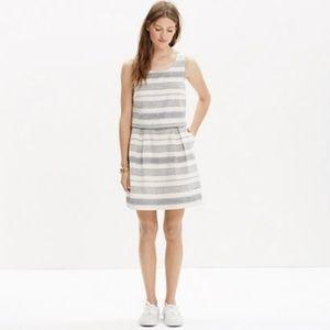 Madewell Striped Linen Dress Size 12